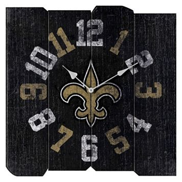 New Orleans Saints Vintage Square Clock