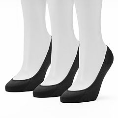 Women's Apt. 9® 3 pkLow Cut Non-Slip Liner Socks
