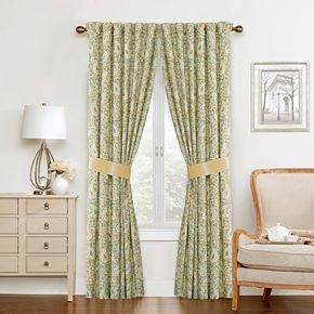 Waverly 2-pack Paisley Verveine Window Curtain