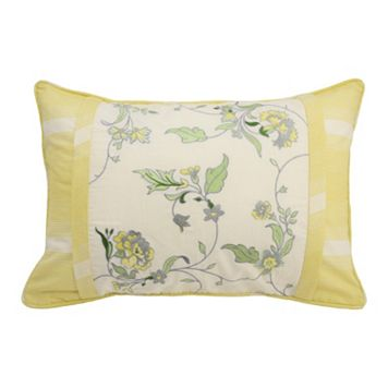 Waverly Paisley Verveine Embroidered Throw Pillow