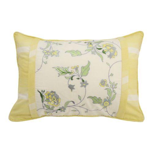 Waverly Paisley Verveine Embroidered Throw Pillow