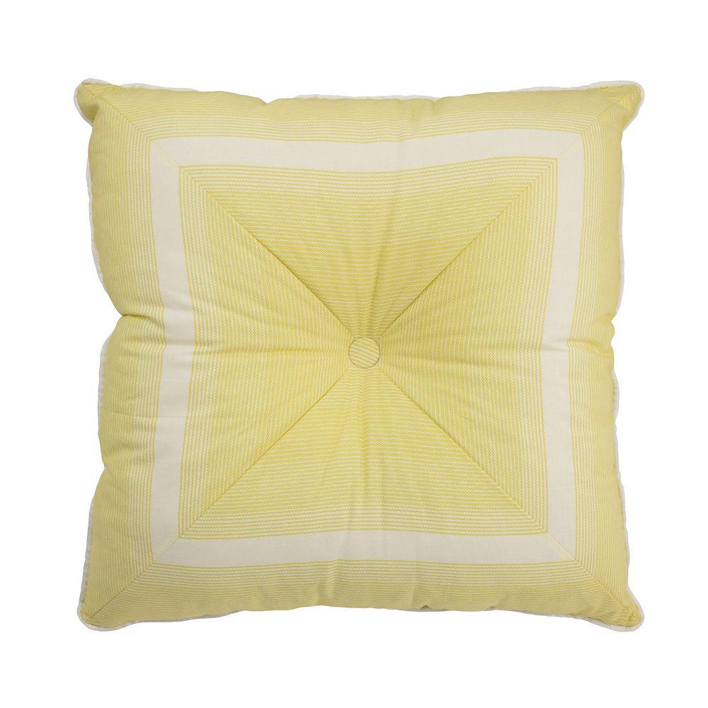 Waverly Paisley Verveine Tufted Throw Pillow