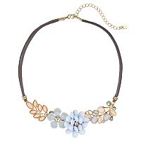 LC Lauren Conrad Flower Faux-Suede Choker Necklace