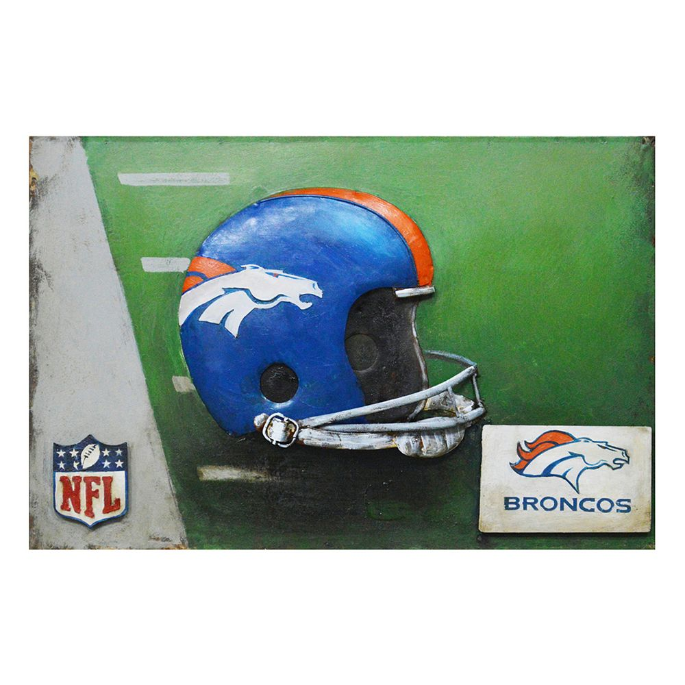 Denver Broncos Metal Wall Art