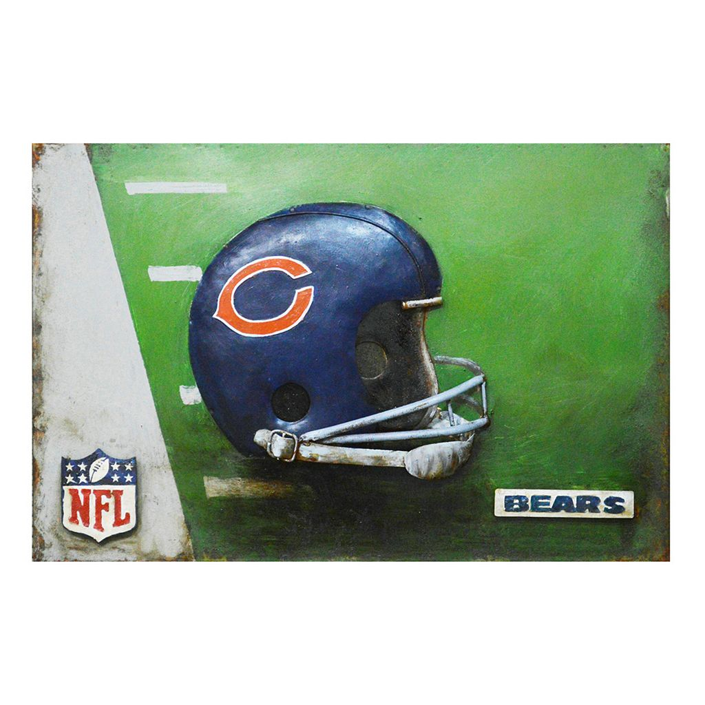 Chicago Bears Metal Wall Art
