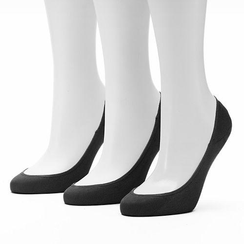 Women's Apt. 9® 3-pk. Extra Low Cut Non-Slip Liner Socks