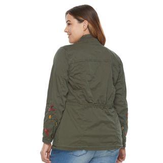 Plus Size SONOMA Goods for Life™ Floral Embroidered Jacket
