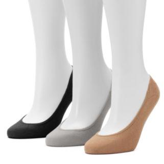 Women's Apt. 9® 3-pk. Low Cut Non-Slip Liner Socks