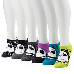 Women's 6 pkTim Burton's The Nightmare Before Christmas No-Show Socks