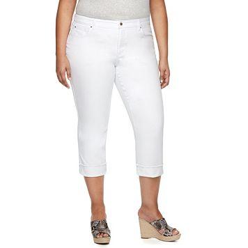 Plus Size Jennifer Lopez Cuffed Capri Jeans