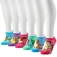 Women's 6-pk. Pokémon No-Show Socks
