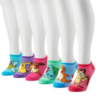 Women's 6-pk. Pokémon No-Show Socks