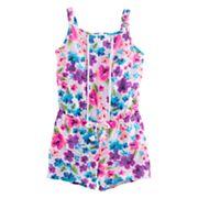 Girls 4-10 Jumping Beans® Print Pom-Trim Romper