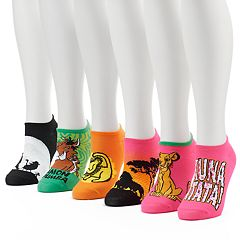 Women's 6 pkDisney's The Lion King No-Show Socks