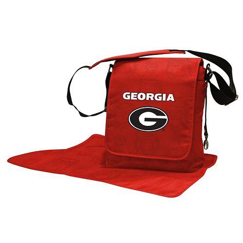 Georgia Bulldogs Lil' Fan Diaper Messenger Bag