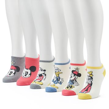 Women's 6-pk. Disney's Mickey Mouse & Friends No-Show Socks
