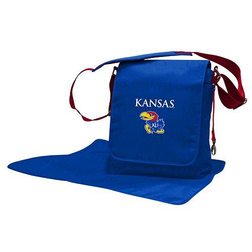 Kansas Jayhawks Lil' Fan Diaper Messenger Bag