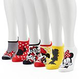 Disney?s Minnie Mouse Women' 6-Pack No-Show Socks