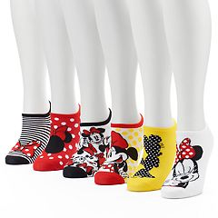 Disney's Minnie Mouse Women' 6-Pack No-Show Socks