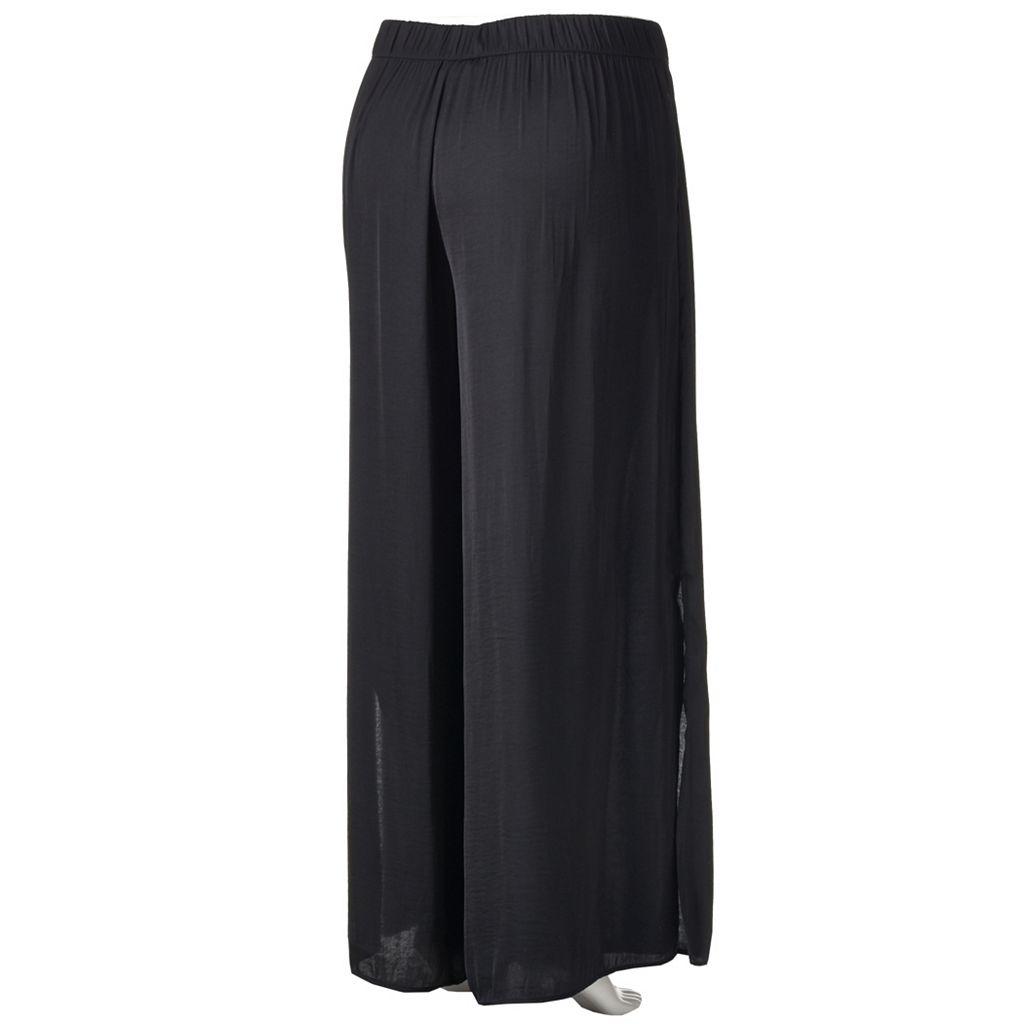 Plus Size Jennifer Lopez Slit Palazzo Pants