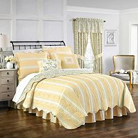 Waverly 4-piece Paisley Verveine King Quilt Set