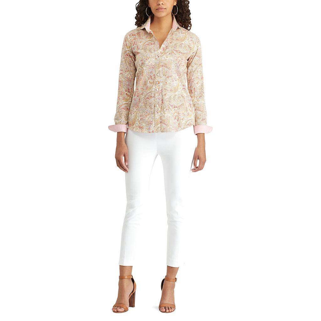 Women's Chaps Striped Button-Down Shirt