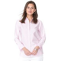 Women's Chaps Striped Button-Down Shirt
