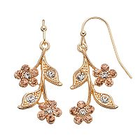 LC Lauren Conrad Floral Branch Drop Earrings