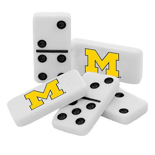 Michigan Wolverines College Edition Double-Six Domino Game