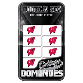 Wisconsin Badgers College Edition Double-Six Domino Game