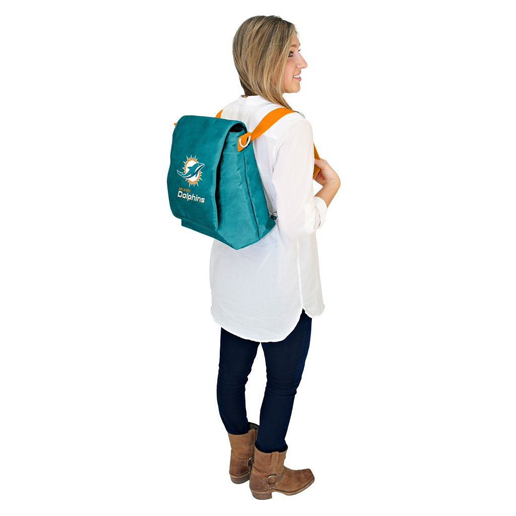 Miami Dolphins Lil' Fan Diaper Messenger Bag