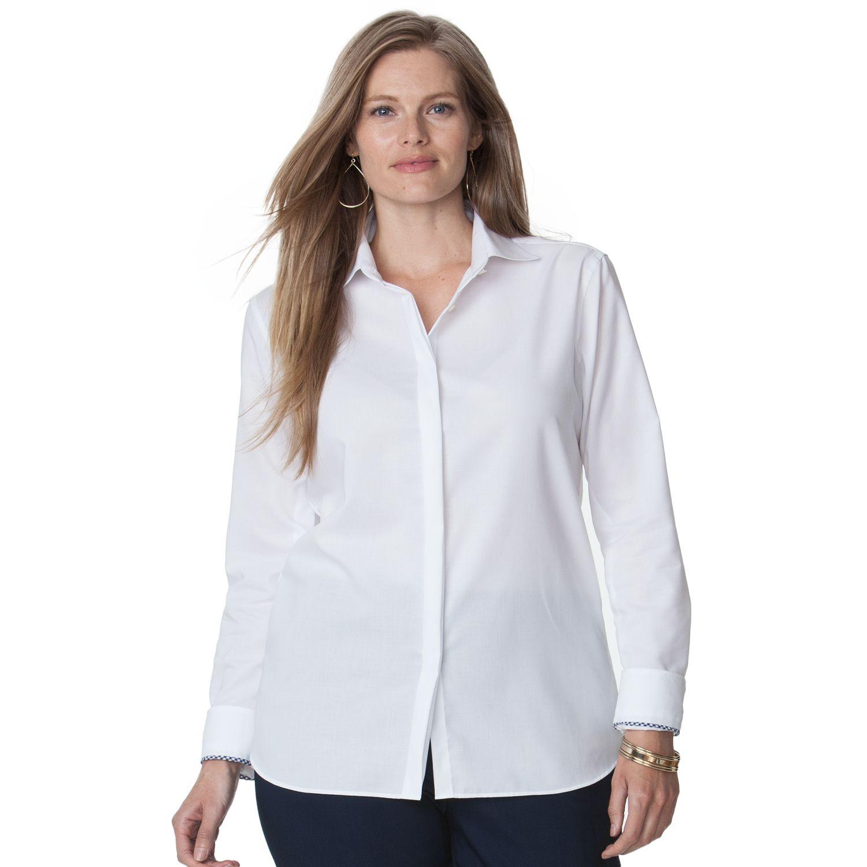 Womens White Button Down Shirt