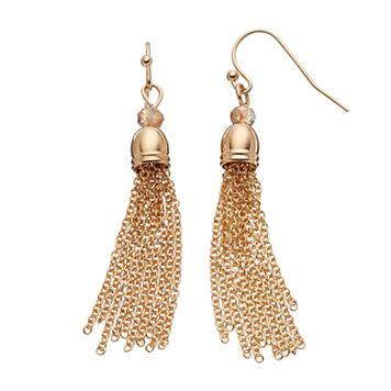 LC Lauren Conrad Beaded Tassel Drop Earrings
