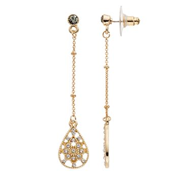 LC Lauren Conrad Openwork Linear Teardrop Earrings
