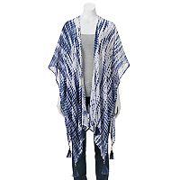 Mudd® Tie-Dye Beaded Tassel Kimono