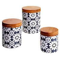Certified International Floral & Bamboo 3 pc Canister Set