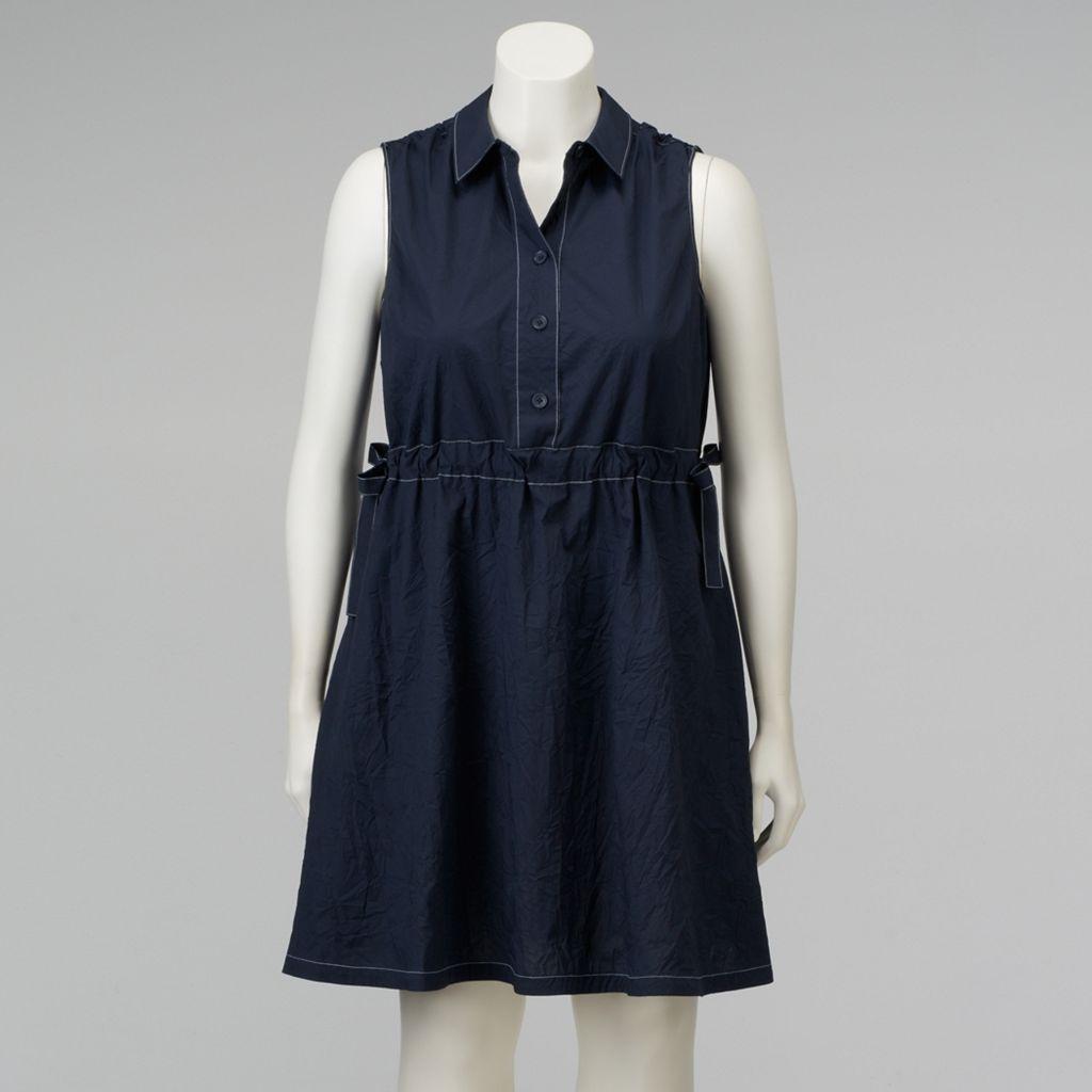 Plus Size Simply Vera Vera Wang Fit & Flare Shirtdress