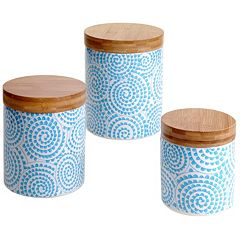 Certified International Swirl & Bamboo 3 pc Canister Set