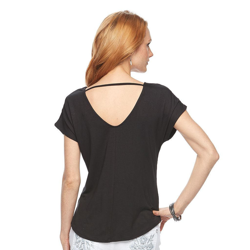 Women's Apt. 9® Embellished Bar Back Tee