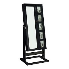 Jewelry Armoire 5-Opening Frame Cheval Floor Mirror