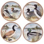 Certified International Lake Life 4 pc Dessert Plate Set
