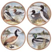 Certified International Lake Life 4-pc. Dessert Plate Set