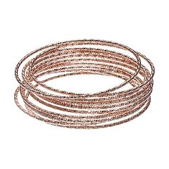 LC Lauren Conrad Textured Bangle Bracelet Set