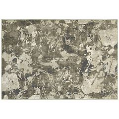 StyleHaven Riley Marbled Abstract Plush Rug