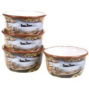 Certified International Lake Life 4 pc Ice Cream Bowl Set