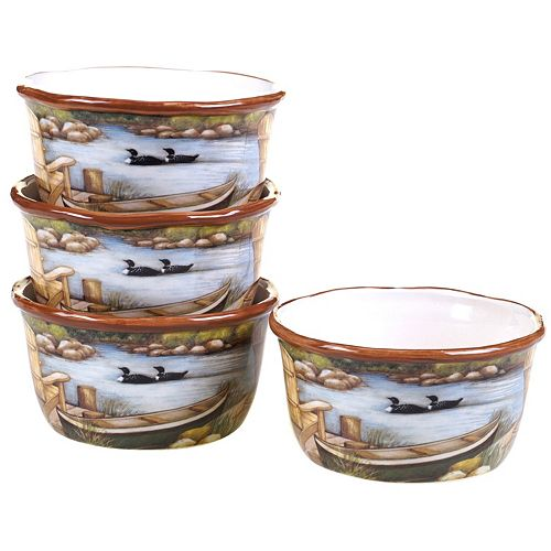 Certified International Lake Life 4-pc. Ice Cream Bowl Set