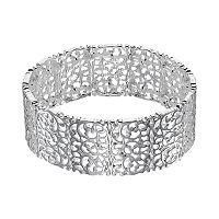 LC Lauren Conrad Silver Tone Filigree Stretch Bracelet