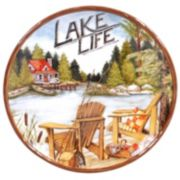 Certified International Lake Life Round Serving Platter