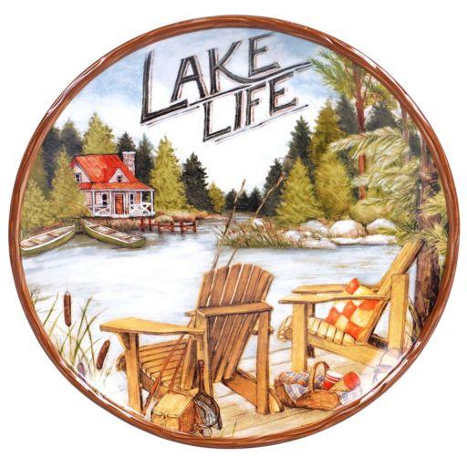 Certified International Lake Life Round Serving Platter