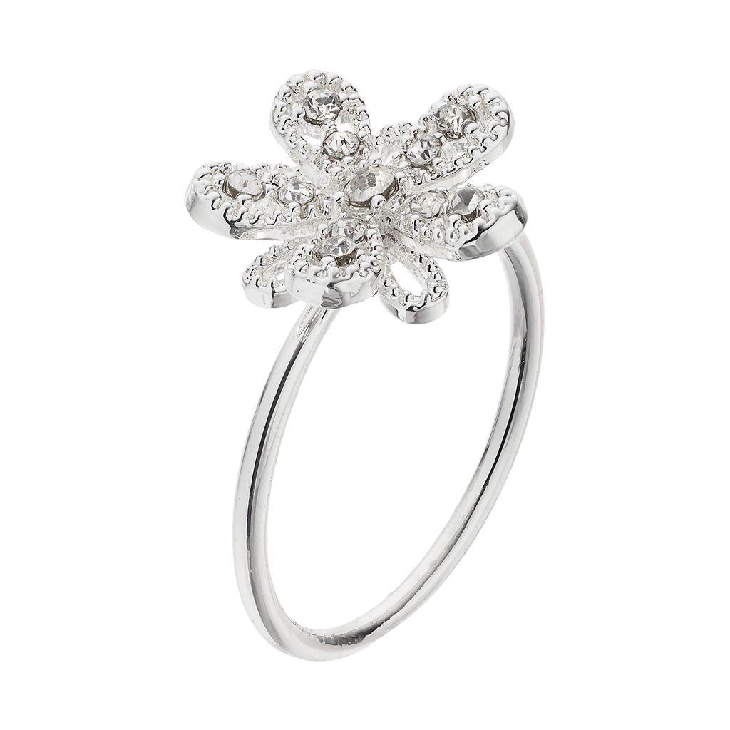 LC Lauren Conrad Openwork Flower Ring